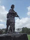 Image for Statue unveiled at park in The Woodlands honors local area soldiers