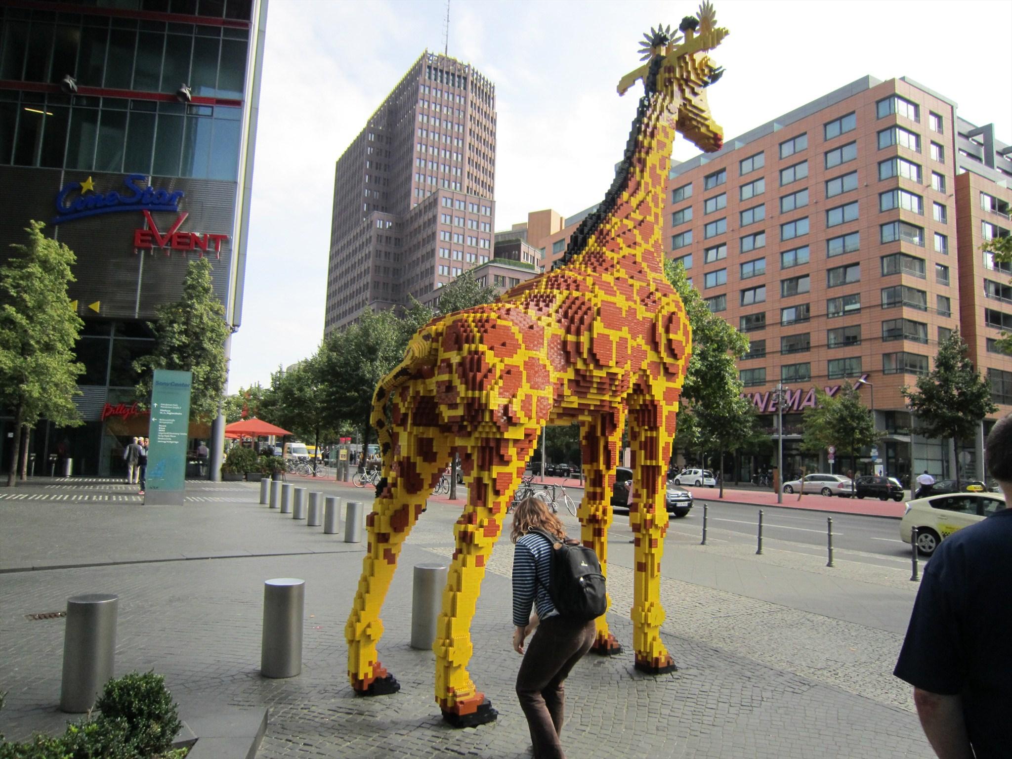 lego giraffe legoland discovery center berlin d image. Black Bedroom Furniture Sets. Home Design Ideas
