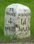 Image for Milestone - Toll Bar Lane, Keyston, Cambridgeshire, UK.