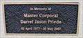 Image for Master Corporal Darrell Jason Priede - Greenwood, British Columbia