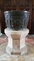 Image for Baptism Font pedestal - St John the Evangelist - Slimbridge, Gloucestershire