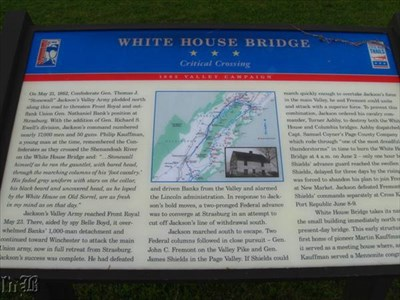 Critical Crossing - 1862 Valley Campaign: the CW Discovery Trail marker.