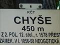 Image for Elevation Sign - Chýše, 450m.
