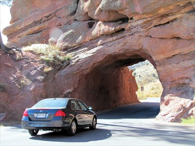 Small tunnel to get to Red Rocks Amphitheatre!