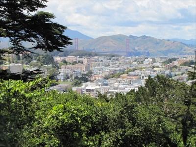 Golden Gate Bridge View, Buena Vista Park, San Francisco, CA
