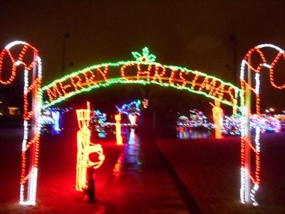 Beautiful holiday display in Edmond.
