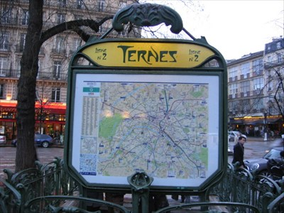 Station de Métro Ternes - Paris, France - The Underground on ...
