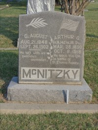 Arthur McNitzky is also the subject of a memorial at the front of the cemetery.