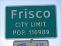 Image for Frisco, TX - Population 116,989