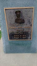 Image for Bridg Gen Donald Paul Radde memorial - Blyton Veteran's Park, Sparta, WI, USA