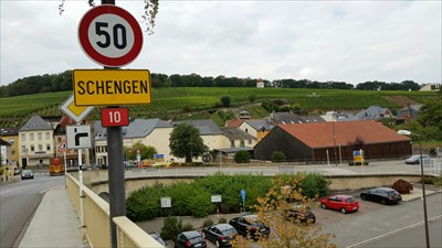 View to the city of Schengen in Luxemburg