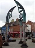 Image for Charles Robert Darwin - The Darwin Gate - Shrewsbury, Shropshire, UK.