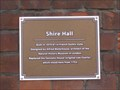 Image for Shire Hall Plaque - St Paul's Square, Bedford, Bedfordshire, UK