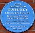 Image for Piotr Demianovich Ouspensky - Talgarth Road, London, UK