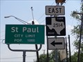 Image for St. Paul, TX - Population 1066