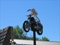 Image for Skeleton on a Motorcycle - Roundup, Montana: