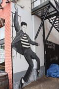 "Image for Elvis ""Jailhouse Rock"" Mural -- 124 W Main St, Tupelo MS"