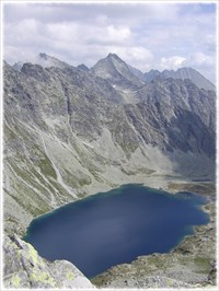 The lake has been photographed from Koprovsky peak.