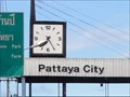 Image for Welcome to Pattaya Clock—Pattaya City, Thailand.