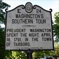 Image for Washington's Southern Tour, Marker E-24