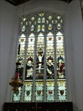 Image for Stained Glass, St John the Baptist, St Mary & St Lawrence Church, Thaxted, Essex, UK