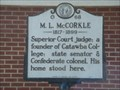 Image for M.L. McCorkle - O68 - Newton, North Carolina