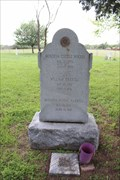 Image for FIRST -- Marked grave at Woods Prairie Cemetery, West Point TX