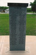 Image for Korean War - Pawhuska Veterans Memorial ~ Pawhuska, OK