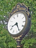 Image for Culbertson Fountain Plaza Clock - Paris, TX