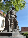 Image for Stone Soldier - War Memorial Weitingen, Germany, BW