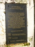 Image for St Thomas Church - Info Plaque - Neath, Wales, Great Britain.