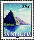 Image for Petit and Gros Piton from Soufriere Bay - Soufriere, St. Lucia