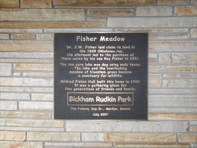 Here is the plaque dedicating this meadow.