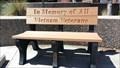 Image for Vietnam Veterans Memorial Bench - Sparks Memorial Park - Sparks, NV