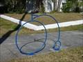Image for Blue Penny-farthing Bike Rack - Jacksonville, FL