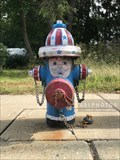 Image for Patriotic Parade of Painted Hydrants, No. 2 - Cumberland, Rhode Island