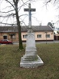 Image for Kríž u kostela/ cross in front of the church, Opava, Czech republic