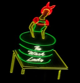 The Wash Lady Neon - Tucumcari, NM.