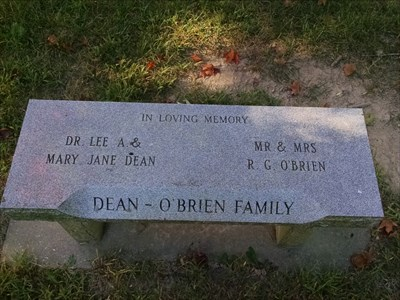 Dean and O Brien Family dedicated bench, by MountainWoods
