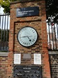Image for Royal Observatory, Wall and Clock to Right of Entrance Gates - Greenwich, UK