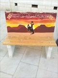 Image for Bucking Cowboy Bench - Rock Springs WY