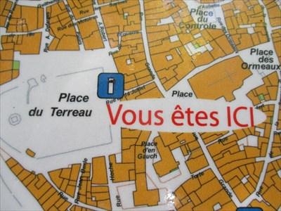 Vous tes ici Place du Terreau Manosque Paca France You Are