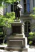 Image for Winds Topple Ben Franklin Statue in Boston-  Boston, MA