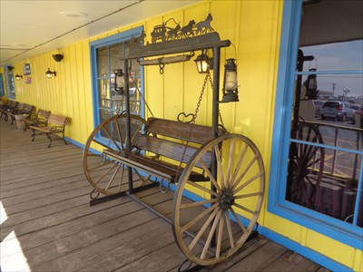 veritas vita visited Wagon Wheel Bench Swing