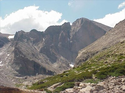 This is near the start of the longs peak hike.