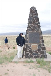 Here I am standing next to the Obelisk at the Trinity Site.