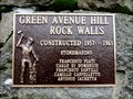 Image for Green Avenue Hill Rock Walls - 1957-1961 - Trail, BC