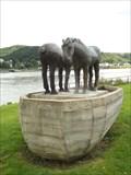 """Image for """"Zwei Pferde und ein Boot"""" at Rheinallee in Kripp - RLP / Germany"""