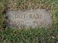 Image for Dot Babb - Llano Cemetery - Amarillo, TX