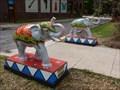 Image for (Circus Elephants), (sculpture). - San Antonio, TX USA